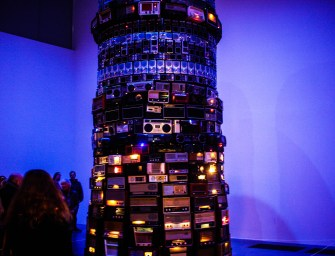 Broadcasting from Cildo Meireles' Tower of Babel at London's Tate Modern