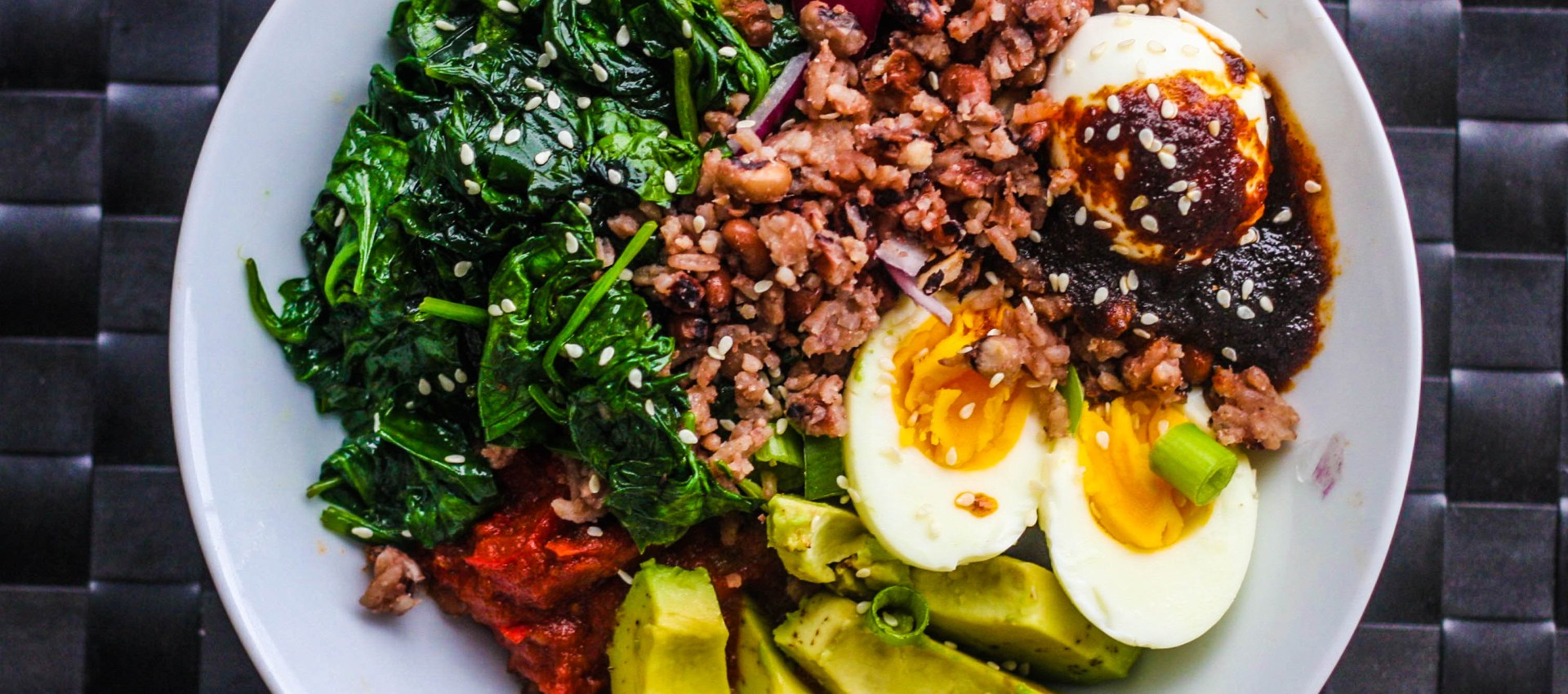 Birthing Waakye and sautéed spinach on Mothers' day