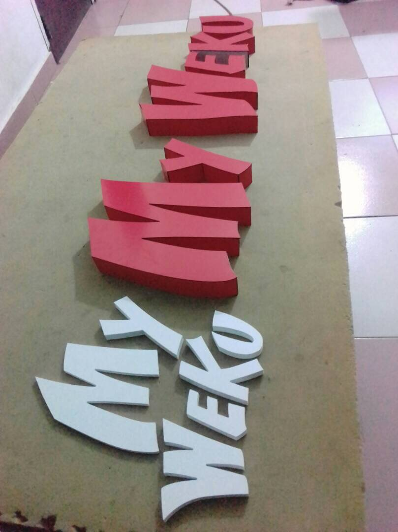 MyWeku Restaurant: Making the signage