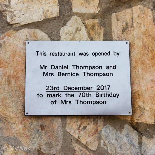 Mum's 70th birthday marks opening of MyWeku Restaurant