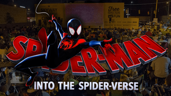 Spiderman into the Spider-Verse at Skyway Outdoor Cinema (Week 4)