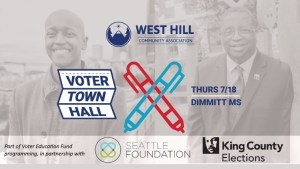 West Hill Voter Town Hall @ Dimmitt Middle School | Seattle | Washington | United States