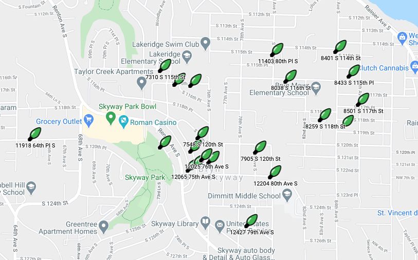 2020 WHCA Skyway-West Hill Holiday Lights Map