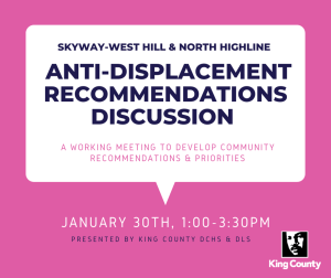 Anti-Displacement Recommendations Discussion @ ONLINE - ZOOM