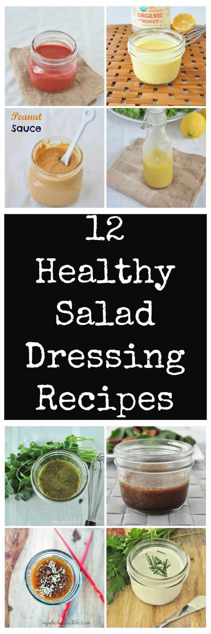 12 Healthy Salad Dressing Recipes - My Whole Food Life