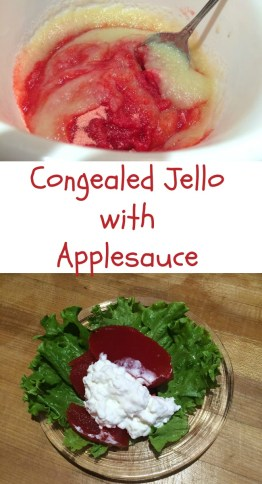 Pintrest Congealed Jello with applesauce
