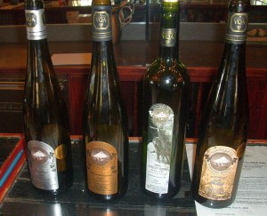 A flight of Summerhill wines