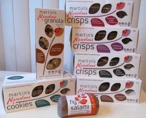 martins Marvelous cookies granola crisps and salami