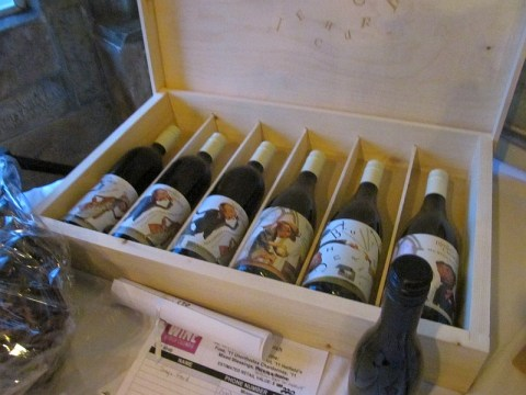 Blasted Church wines gift package item scroll