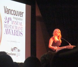 Fiona Forbes presenting awards