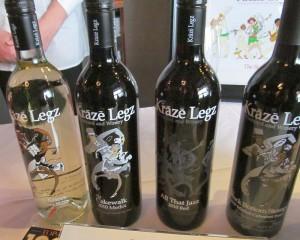 Kraze Legz line up of wines