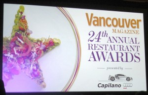 Vancouver Magazine 24th Annual Restaurant Awards