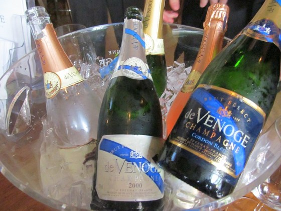 A selection of Champagne de Venoge on ice