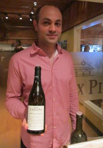 GM Rasoul Salehi presenting the Le Vieux Pin Syrah Violette