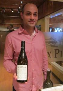 GM Rasoul Salehi presenting the Le Vieux Pin Syrah Violette