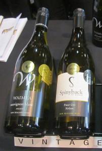 Waimea Estates Sauvignon Blanc and Spinyback Pinot Gris