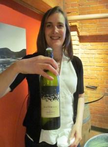 Wine maker Severine Pinte with her La Stella Leggiero 2012