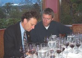 Lance Berelowitz and Mark Davidson at a SWWS tasting