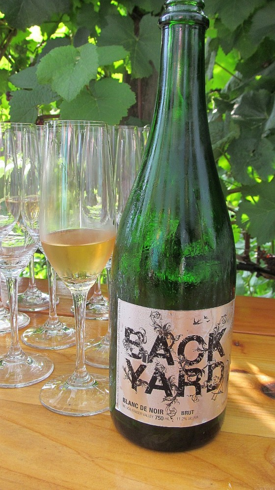 Backyard Vineyards Blanc de Noir sparkling wine