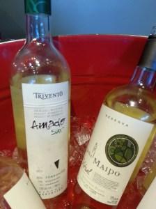 Trivento Amado Sur Torrontes Viognier and Vina Maipo Vitral Sauvignon Blanc