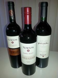 3 Malbecs from Bodega Norton