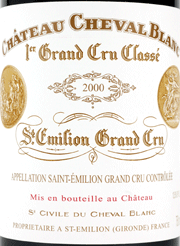 Chateau Cheval Blanc Label 2000
