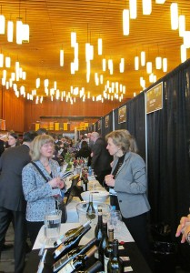 People at the Vancouver International Wine Festival tasting room