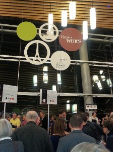 French wine section at the Vancouver International Wine Festival