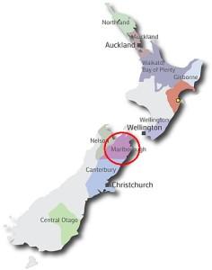 New Zealand map - Marlborough