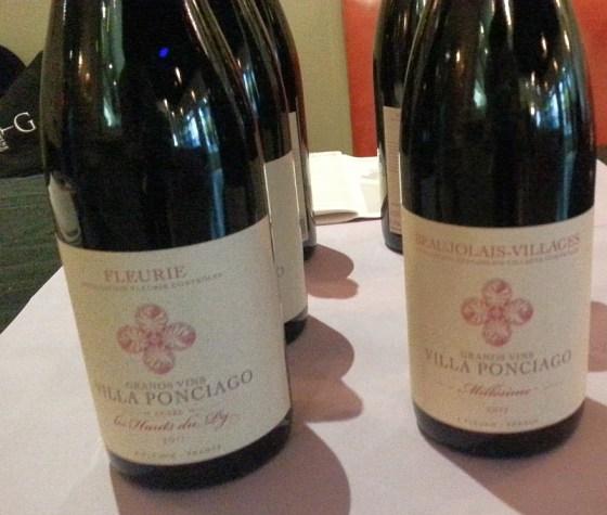 Villa Ponciago flight of wines