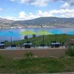 Overlooking the Okanagan Valley from Evolve Cellars