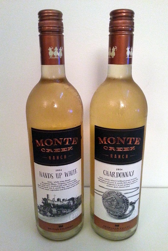 Monte Creek Ranch Hands Up White and Chardonnay 2014