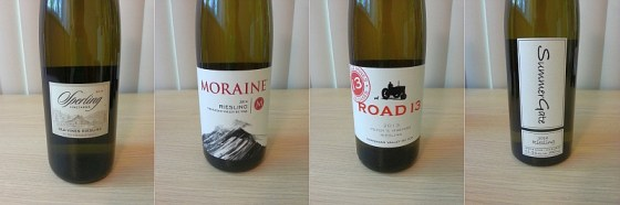 Sperling Vineyards Old Vines, Moraine, Road 13, and SummerGate Riesling