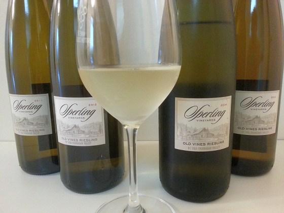 Sperling Vineyards Old Vines Riesling flight