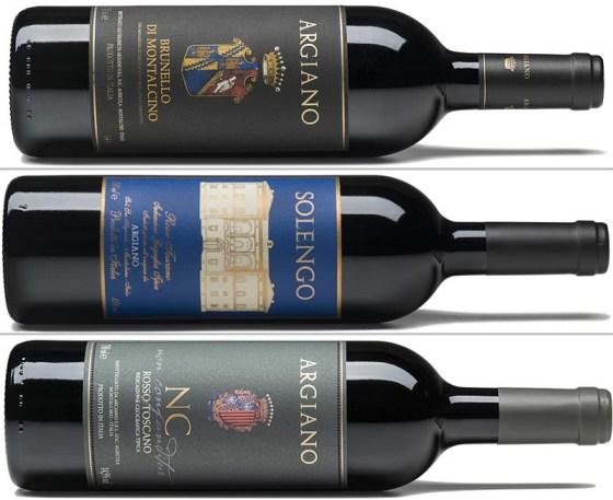 Argiano Brunello di Montalcino Solengo and NC wines