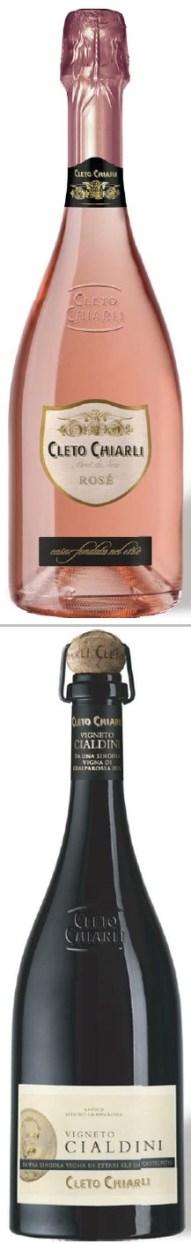Cleto Chiarli Rose Brut de Noir and Vigneto Cialdini