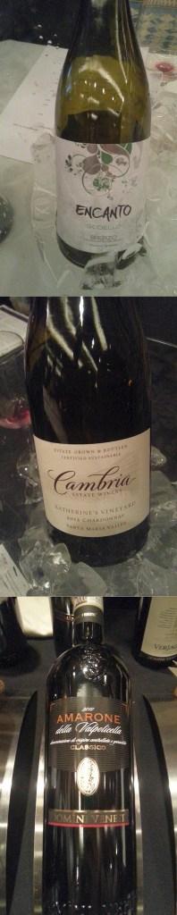 Encanto Godello 2014, Cambria Estate Winery Katherines Vineyard Chardonnay 2012, Domini Veneti Amarone della Valpolicella Classico 2010