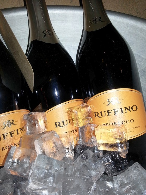 Ruffino Prosecco on ice