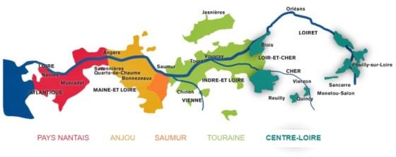 Loire Valley Regions (Courtesy http://loirevalleywine.com/regions)