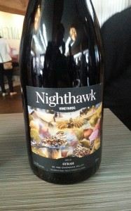 Nighthawk Vineyards Syrah 2012