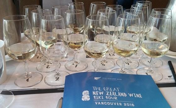 A flight of New Zealand Sauvignon Blanc