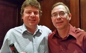 Karl MyWinePal with Andres Caballero from Santa Carolina winery