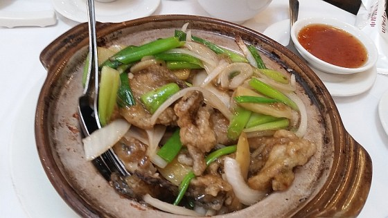 Braised oyster hot pot from Sun Sui Wah Restaurant