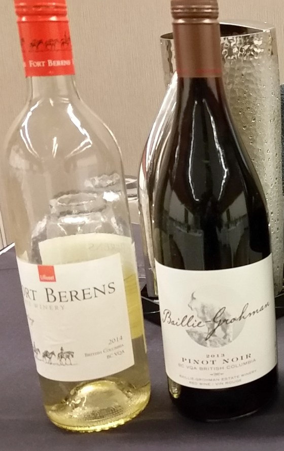 Fort Berens Riesling and Baillie-Grohman Pinot Noir wines