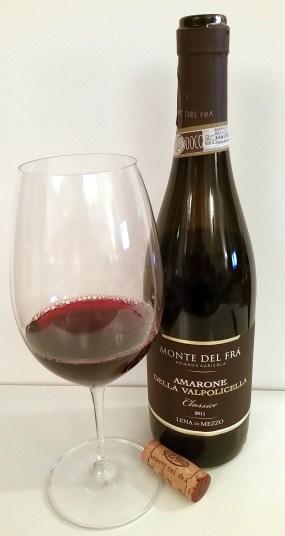 Monte del Fra Amarone Della Valpolicella Classico Lena di Mezzo DOCG 2011 wine in glass