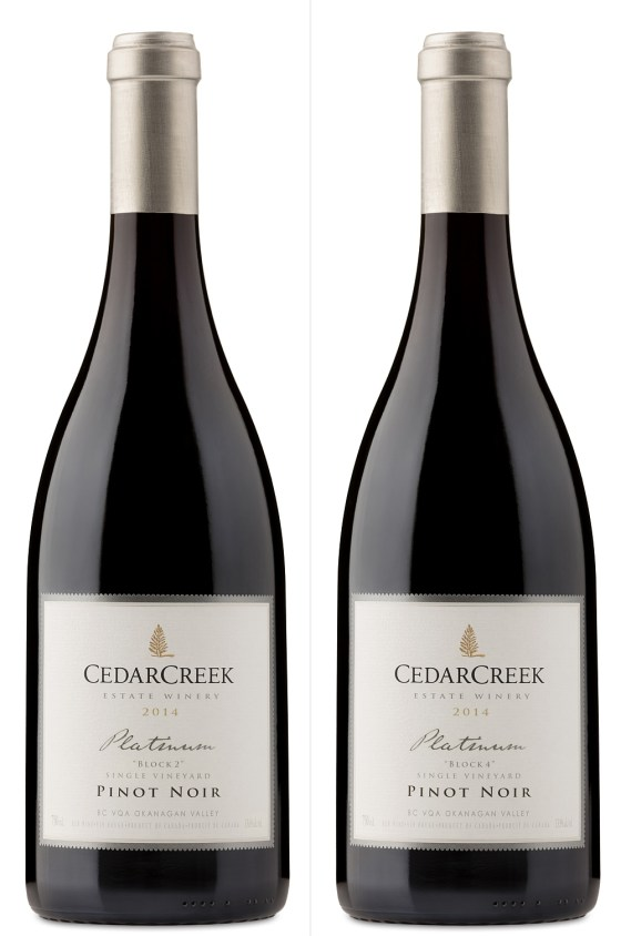 CedarCreek Estate Winery Platinum Block 2 and Block 4 Pinot Noirs