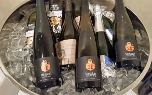 Tantalus Riesling, Quails Gate Chardonnay, Moon Curser Arneis, and Meyer Family Vineyards Brut BC wines