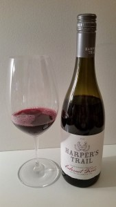 Harper's Trail Cabernet Franc 2015 and glass