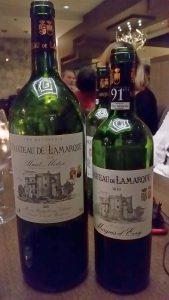 Chateau de Lamarque 2001 magnum and 2010 750 ml bottle