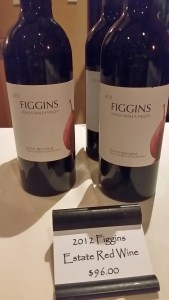Figgins Estate Red 2012 bottles